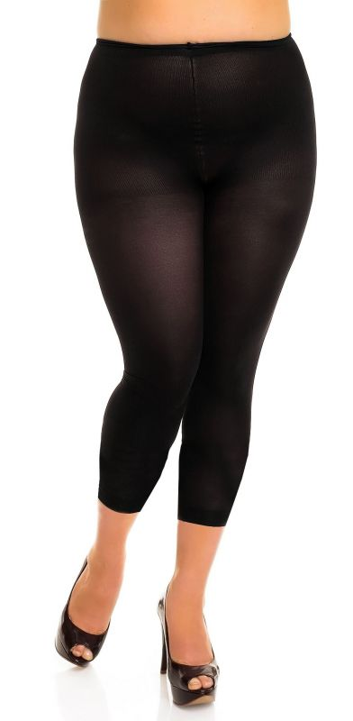 GLAM - Leggings - seidig matt - schwarz