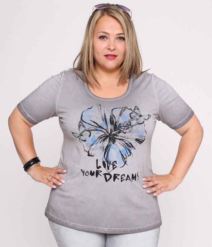 dreams shirt von aprico grau mit glitzer und schn rung. Black Bedroom Furniture Sets. Home Design Ideas