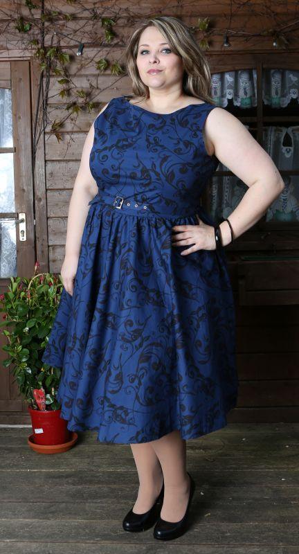 RITA A. - 50s Kleid - blau/schwarz - Gr. 42/44 und 54-58 ...