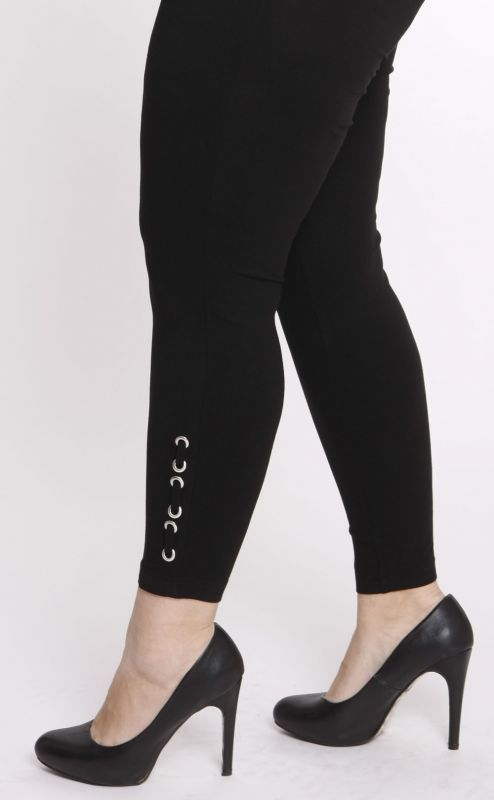 Sempre Piu - Designer Leggings (4408) mit Applikation - schwarz
