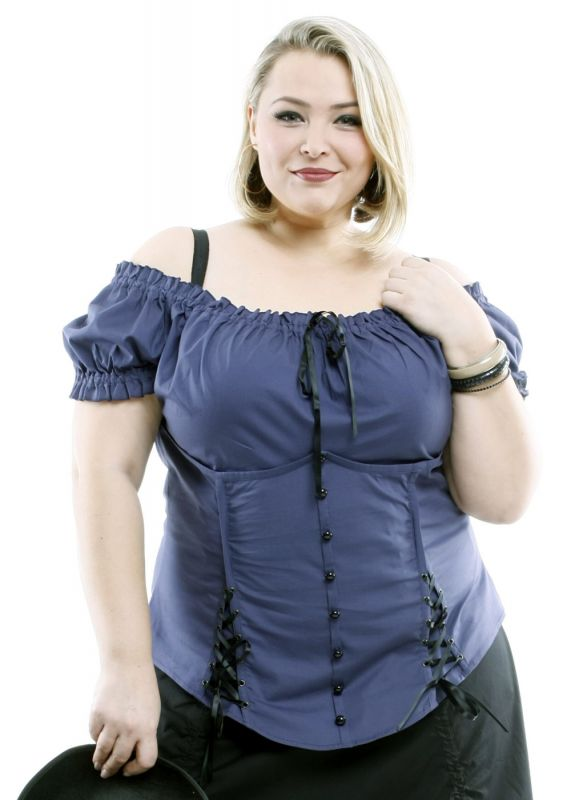 MADISON - Corsagen Top - blau/violett