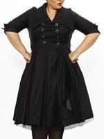 Rockabilly Kleider: GERLI BLACK - 50s Kleid - schwarz
